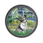 Bridge / Welsh Corgi (Bl.M) Wall Clock