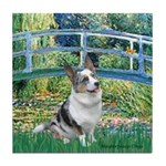 Bridge / Welsh Corgi (Bl.M) Tile Coaster