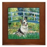 Bridge / Welsh Corgi (Bl.M) Framed Tile
