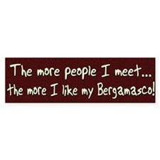 The More People Bergamasco Bumper Bumper Sticker