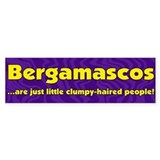 Furry People Bergamasco Bumper Bumper Sticker