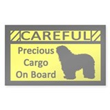 Precious Cargo Bergamasco Sticker (Rect)