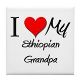 I Love My Ethiopian Grandpa Tile Coaster