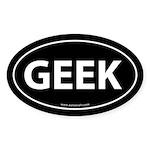 Geek Euro Bumper Sticker -Black (Oval)