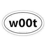 w00t Euro Auto Bumper Sticker -White (Oval)