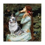 Ophelia's Corgi (Bl.M.) Tile Coaster
