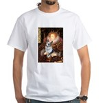 The Queen's Corgi (Bl.M) White T-Shirt