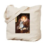 The Queen's Corgi (Bl.M) Tote Bag