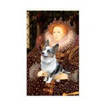 The Queen's Corgi (Bl.M) Sticker (Rectangle)