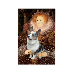 The Queen's Corgi (Bl.M) Rectangle Magnet