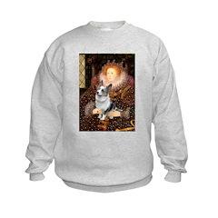 The Queen's Corgi (Bl.M) Kids Sweatshirt
