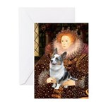 The Queen's Corgi (Bl.M) Greeting Cards (Pk of 20)