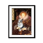 The Queen's Corgi (Bl.M) Framed Panel Print