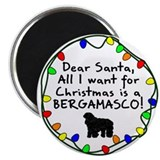 Dear Santa Bergamasco Christmas Magnet