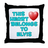 This Heart: Elvis (E) Throw Pillow