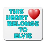 This Heart: Elvis (E) Mousepad