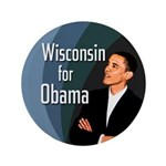 Big Obama Button for Wisconsin