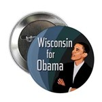 Ten Discount Wisconsin for Obama buttons