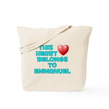 This Heart: Emmanuel (E) Tote Bag