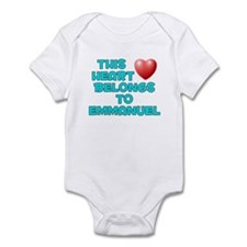 This Heart: Emmanuel (E) Infant Bodysuit