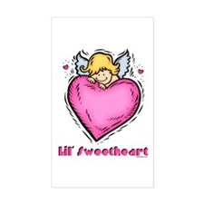 Lil' Sweetheart Rectangle Decal