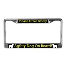 Bergamasco Agility Dog License Plate Frame
