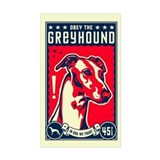 Obey the Greyhound! Rectangle Sticker