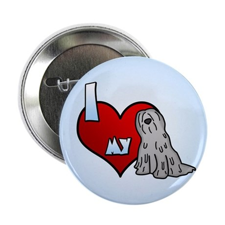 Love Grey Bergamasco Button