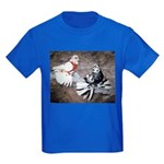 Champion Trumpeter Pigeons Kids Dark T-Shirt