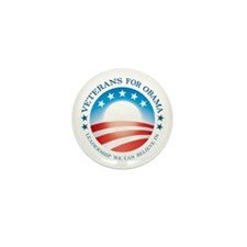 10 Pack Veterans for Obama buttons