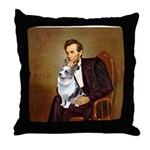 Lincoln's Corgi (Bl.M) Throw Pillow