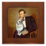 Lincoln's Corgi (Bl.M) Framed Tile