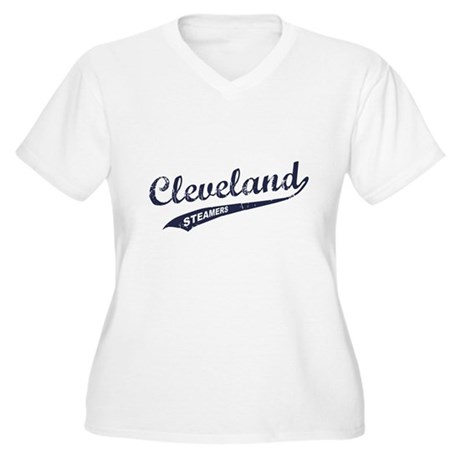 Cleveland Steamers Womens Plus Size V-Neck T-Shir