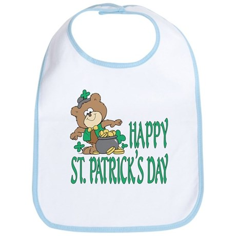 St. Patrick's Day Teddy Bear Bib