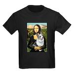 Mona's Corgi (Bl.M) Kids Dark T-Shirt