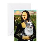 Mona's Corgi (Bl.M) Greeting Card