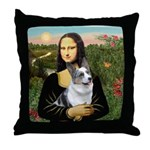 Mona's Corgi (Bl.M) Throw Pillow