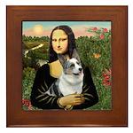 Mona's Corgi (Bl.M) Framed Tile