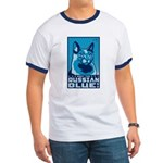 Obey the Russian Blue! Cat Ringer T