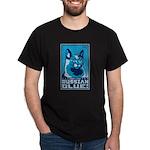Obey the Russian Blue! Cat Dark T-Shirt