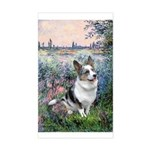 The Seine - Corgi (Bl.M) Sticker (Rectangle)