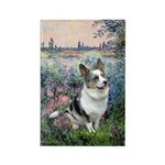 The Seine - Corgi (Bl.M) Rectangle Magnet (10 pack