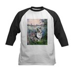 The Seine - Corgi (Bl.M) Kids Baseball Jersey
