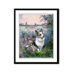 The Seine - Corgi (Bl.M) Framed Panel Print