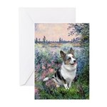 The Seine - Corgi (Bl.M) Greeting Cards (Pk of 20)