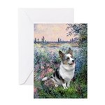 The Seine - Corgi (Bl.M) Greeting Card