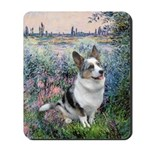 The Seine - Corgi (Bl.M) Mousepad