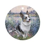 The Seine - Corgi (Bl.M) Ornament (Round)