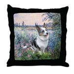 The Seine - Corgi (Bl.M) Throw Pillow