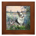 The Seine - Corgi (Bl.M) Framed Tile